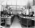 (Secretarial desks in the offices of the Submarine Base, Los Angeles.) - NARA - 295474.tif