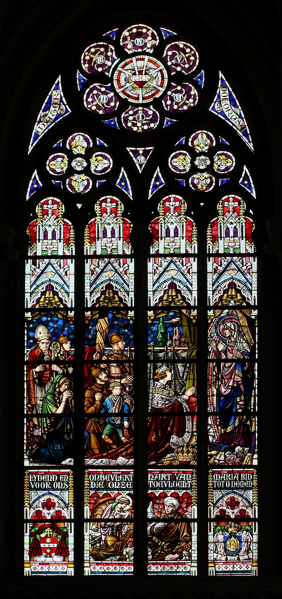 Église Notre-Dame de Laeken - Brussels - Stained glass (01)