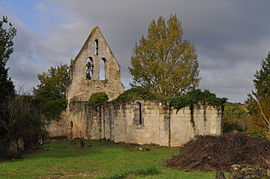 The ruins of the church in Martaillac