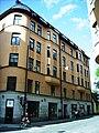 Östgötagatan-Tjärhovsgatan, huset revs 1908 (Snellman)..JPG