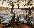 Бенуа А. Н. Финляндия. Вид с балкона дома в Лангинкоски. 1890.jpg