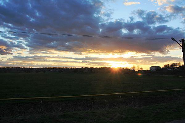 Захід сонця Печірна