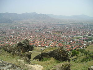 Prilep - Panorama of Prilep from Marko's Towers