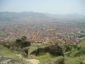 Prilep - Panorama of Prilep from Marko's Towers