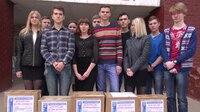 File:СВ-ДНР-599. Гуманитарная помощь от детей России доставлена в донецкую школу № 112.webm
