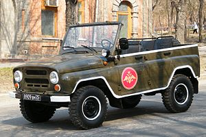 UAZ-469 - A UAZ-3151 used on a military parade in Russia