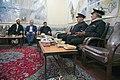 اهداء پرچم حرم علی بن موسی الرضا به هیئت ها یا موکب های مستقر در شهر مهران در ایام پیاده روی اربعین 16.jpg