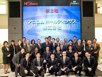 Anicom - Anicom's key members at Tokyo Stock Exchange. March 3rd, 2010.