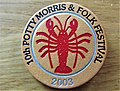 -2019-06-11 Event badge issued at the 2003 Potty Morris dancing festival, Sheringham.JPG