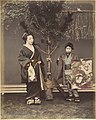 -A Japanese Woman and a Japanese Boy in Traditional Dress- MET DP155403.jpg