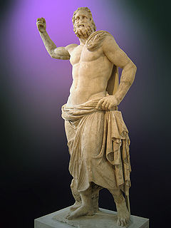 Ancient Greek god of the seas, earthquakes and horses