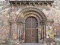 016 Iglesia de los Padres Franciscanos, o de San Antonio de Padua (Avilés), portal romànic.jpg