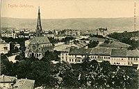 07793-Teplitz-Schönau-1906-Blick auf Stadt mit Kirche-Brück & Sohn Kunstverlag.jpg