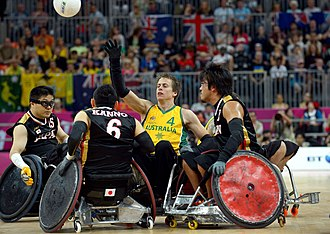 Japan national wheelchair rugby team - Japan's national team in action at London 2012