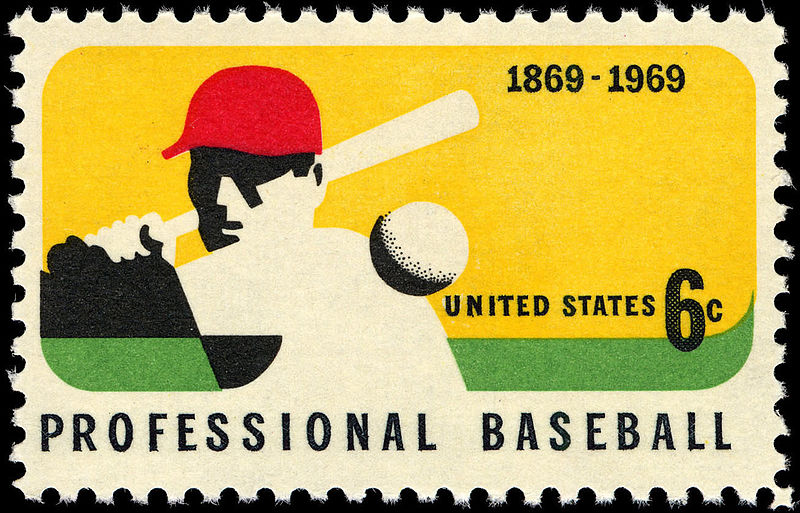 File:100th Anniversary Professional Baseball 6c 1969 issue U.S. stamp.jpg