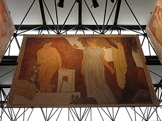 Joaquín Torres-García - Image: 116 Centre Cultural Terrassa, Omnia mecum porto, mural de Joaquim Torres Garcia