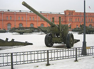 122 mm gun M1931 (A-19) - M1931 in the Museum of Artillery and Engineering Forces, St. Petersburg.