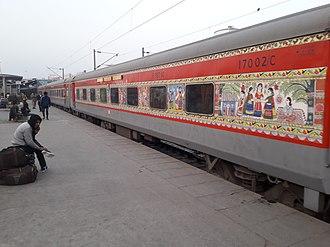 Rajendra Nagar Patna Rajdhani Express - 12309 Rajdhani Express - with Madhubani Art