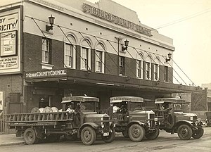 Georges River Council - The St George County Council building in Montgomery St, Kogarah, c. 1937.