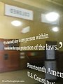 14th Amendment Sign at the Brown v Board of Education Historical Site.jpg