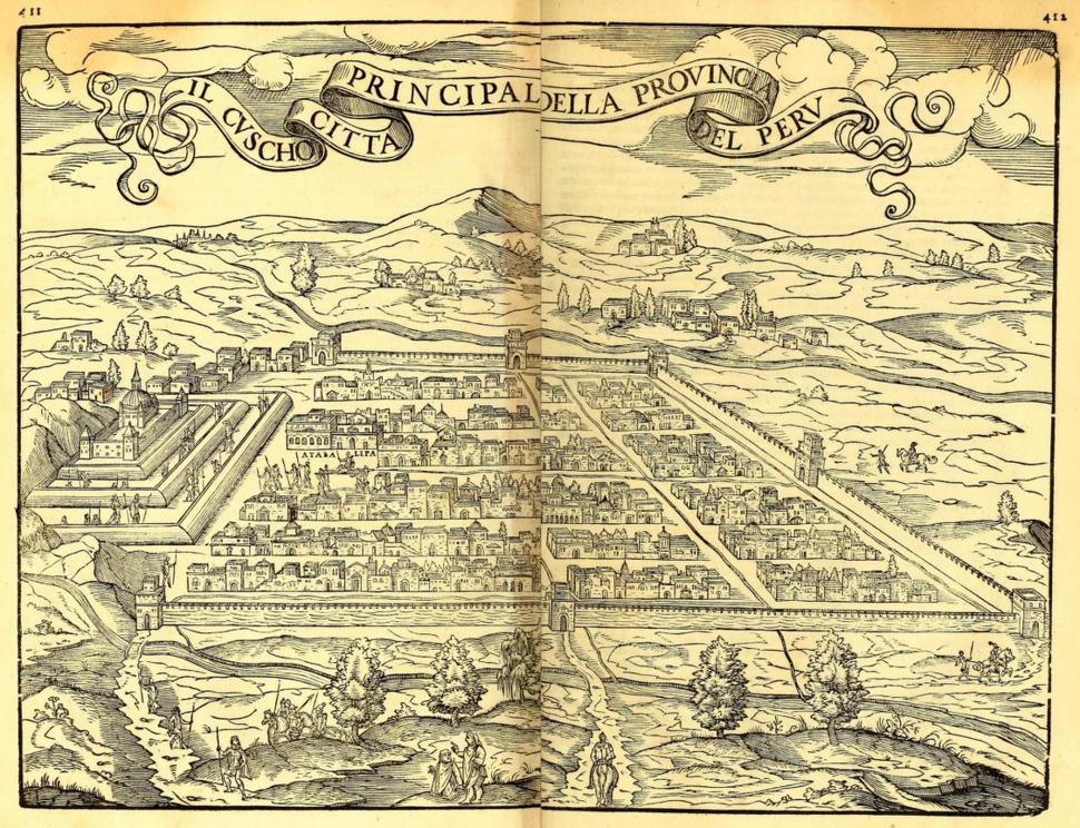 1565 Cusco Ramusio Delle Navigationi vol3 pp411-412