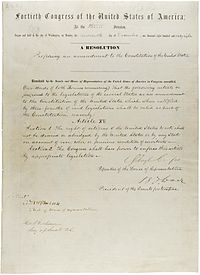 Reconstruction Amendments - Wikipedia