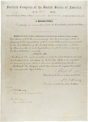 Reconstruction Amendments - Text of the 15th Amendment