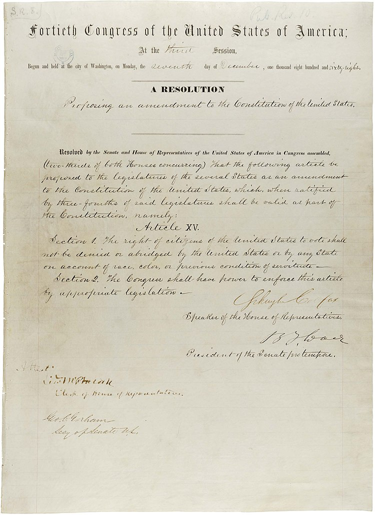 15th Amendment Pg1of1