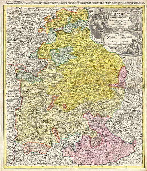 Datei:1728 Homann Map of Bavaria, Germany - Geographicus - Bavariae-homann-1728.jpg