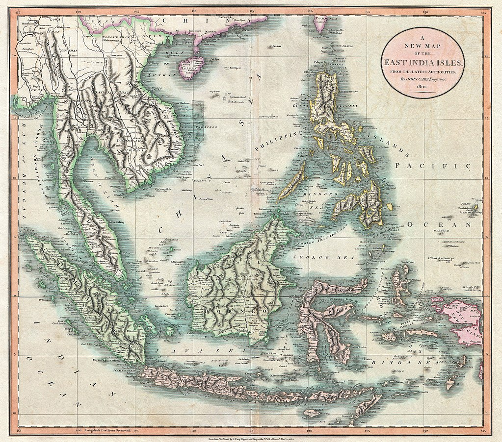 1801 Cary Map of the East Indies and Southeast Asia ( Singapore, Borneo, Sumatra, Java, Philippines) - Geographicus - EastIndies-cary-1801