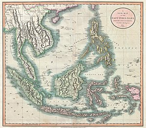 Spratly Islands - An 1801 map of the East Indies, South China Sea and area