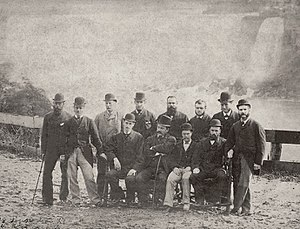 Australian cricket team in England and North America in 1878 - The first Australian touring team (1878) pictured at Niagara Falls