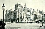 Reichstag building on Königsplatz in Berlin, around 1895