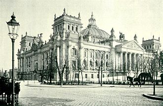 Reichstag dome - The Reichstag before the war with original dome in 1895.