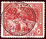 1900 1d Jamaica Highgate Yv31 SG31.jpg