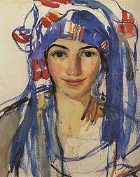 1911. Автопортрет в шарфе.jpg