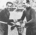 1934 FIFA World Cup - Italy v Spain - Gianpiero Combi and Ricardo Zamora.jpg
