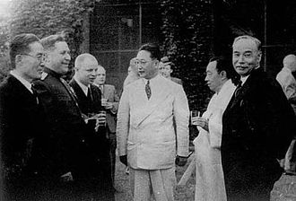 History of South Korea - Yeo Woon-Hyung (far right) at the US-Soviet Joint Commission in 1947