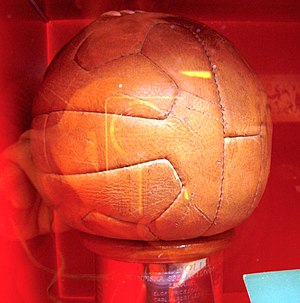 Football at the 1948 Summer Olympics - The final match ball.