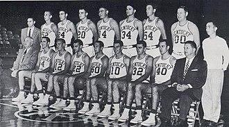 1957–58 Kentucky Wildcats men's basketball team - Image: 1958 Kentucky Wildcats