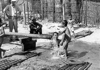 Hearts and Minds (Vietnam War) - Projects such as this water supply system to bring economic and social benefits to rural areas are components of hearts and minds projects.