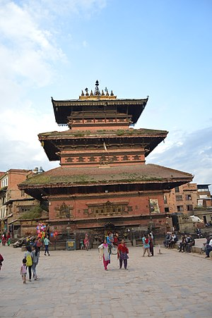 Bhaktapur District - Image: 1 Bhairavnath Temple, Bhaktapur Durbar Square, NEPAL 02