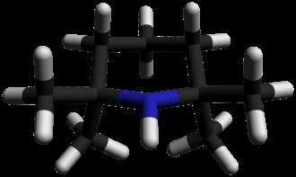 2,2,6,6-Tetramethylpiperidine - Image: 2,2,6,6 Tetramethylpiperidin e 3D sticks by AHRLS 2012