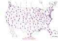2006-01-08 Max-min Temperature Map NOAA.png