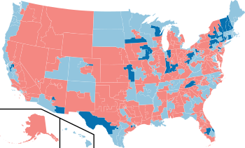 2006 House election results map