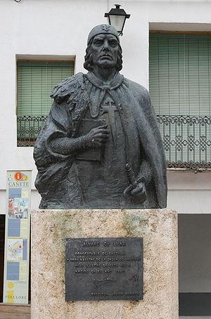 House of Trastámara - Statue of Álvaro de Luna in Cañete