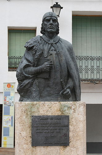House of Trastámara - Statue of Álvaro de Luna in Cañete