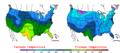 2008-01-28 Color Max-min Temperature Map NOAA.png