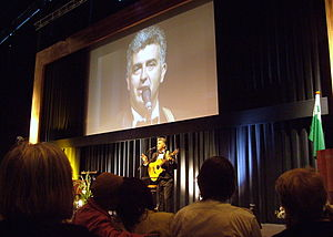 Esperanto culture - The Serbian actor Sasha Pilipovic presents his cabaret at the World Esperanto Congress, Rotterdam 2008