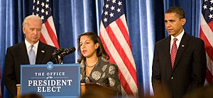 Susan Rice - Rice with Barack Obama and Joe Biden, December 2008
